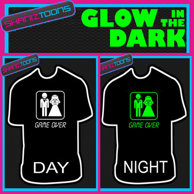 Game Over Groom Stag Party Funny Wedding Gift Glow In The Dark