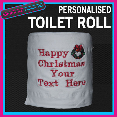 Personalised Christmas Toilet Roll Novelty Gift